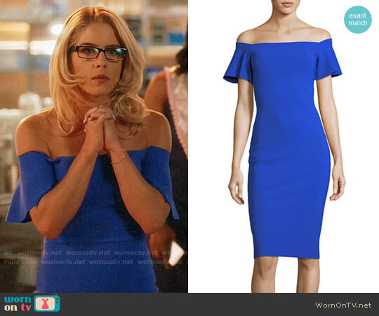 Chiara Boni La Petite Robe Anselma Dress worn by Emily Bett Rickards on The Flash