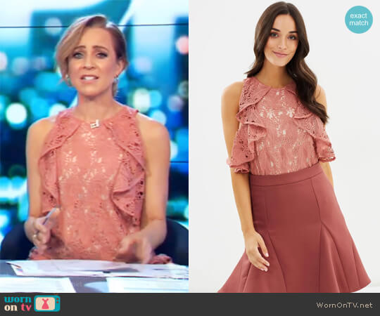 Monaco Top by Cooper St worn by Carrie Bickmore on The Project