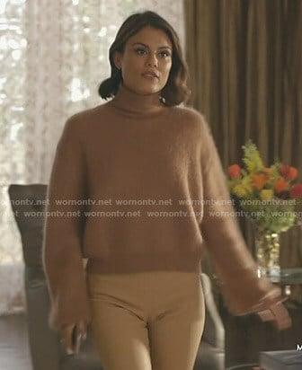 Cristal's white silk pajamas on Dynasty