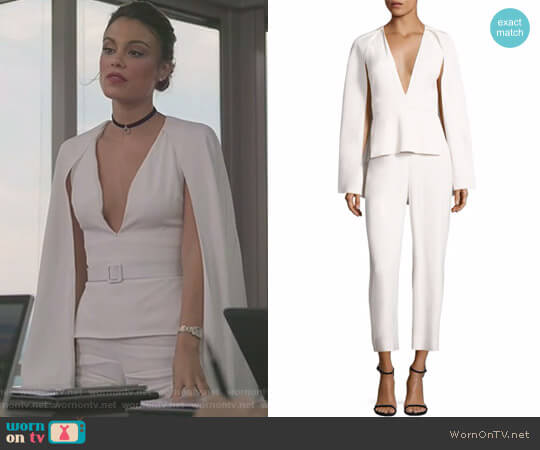 Scarlett Woven Jumpsuit by Cushnie et Ochs worn by Cristal Flores (Nathalie Kelley) on Dynasty