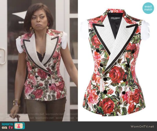 Rose Brocade Jacket by Dolce & Gabbana worn by Cookie Lyon (Taraji P. Henson) on Empire