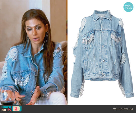 Denim Jacket by Death by Dolls worn by Peggy Sulahian on The Real Housewives of Orange County