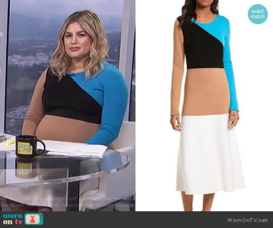 Crewneck Flare Knit Dress by Diane von Furstenberg worn by Carissa Loethen Culiner  on E! News