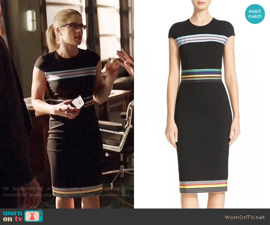 Diane von Furstenberg Hadlie Dress worn by Emily Bett Rickards on Arrow