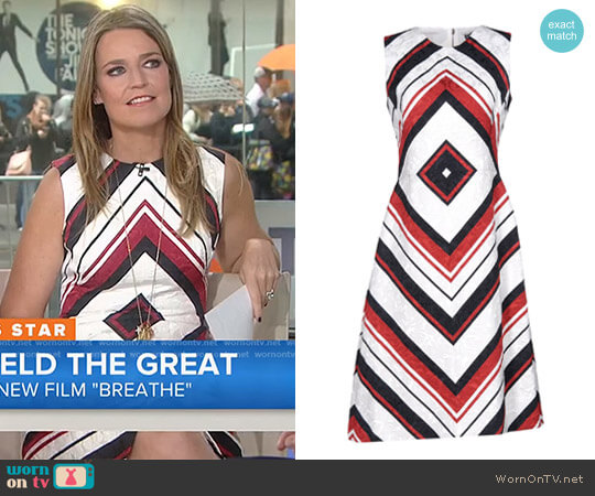 Geometric Print Dress by Dolce & Gabbana worn by Savannah Guthrie on Today