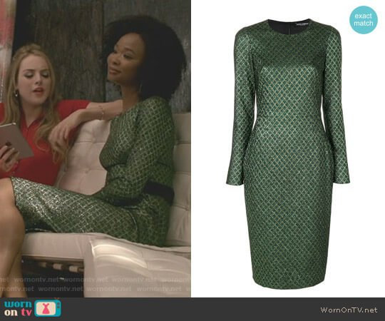 Metallic Jacquard Dress by Dolce & Gabbana worn by Wakeema Hollis on Dynasty