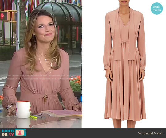 Crepe Scarf-Neck Dress by Derek Lam  worn by Savannah Guthrie on Today