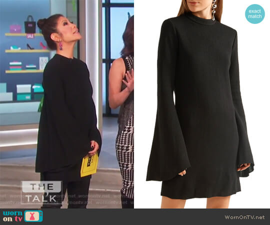 Duckie stretch-knit mini dress by Ellery worn by Julie Chen on The Talk