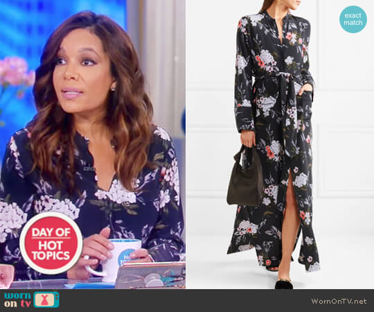 Britten floral-print silk crepe de chine maxi dress by Equipment worn by Sunny Hostin  on The View