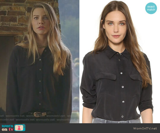 Lucifer Boo Normal: WornOnTV: Chloe's Black Button Down Blouse On Lucifer