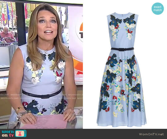 Mackenzie Kita Dress by Erdem worn by Savannah Guthrie on Today