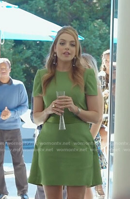 Fallon's green dress with cape on Dynasty