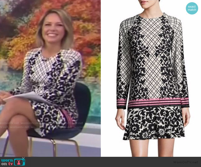 Floral Ruffled Shift Dress by Eliza J worn by Dylan Dreyer  on Today