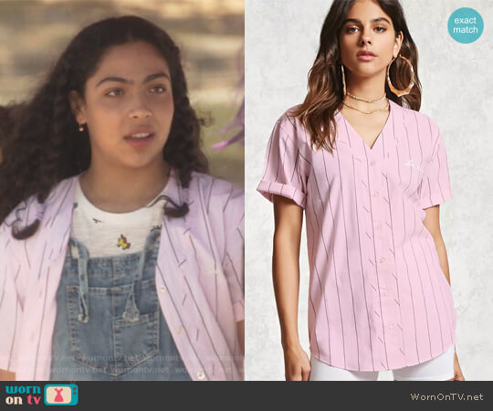 Los Angeles Baseball Jersey Top by Forever 21 worn by Allegra Acosta on Marvels Runaways