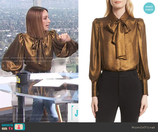 Voluminous Scarf Blouse by Frame worn by Catt Sadler  on E! News