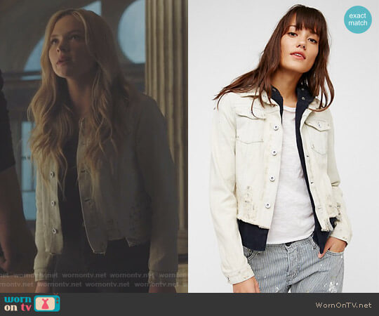 Double Weave Denim Jacket by Free People worn by Lauren Strucker (Natalie Alyn Lind) on The Gifted