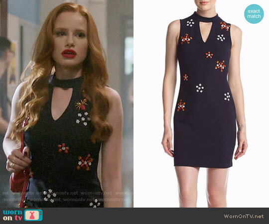 Guess Floral Embellished Dress worn by Madelaine Petsch on Riverdale