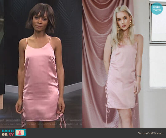 'The Ruby' Dress by Georgia Mae worn by Zuri Hall  on E! News