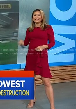 Ginger's red ruffle dress on Good Morning America