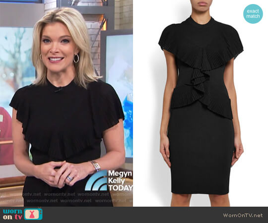 Ruffled Ribbed-knit Dress by Givenchy worn by Megyn Kelly  on Today
