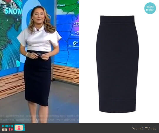 'Guardian' Skirt by Reiss worn by Ginger Zee on Good Morning America