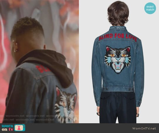 Denim Jacket with Embroideries by Gucci worn by Bryshere Y. Gray on Empire
