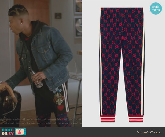 GG jacquard jogging pant by Gucci worn by Hakeem Lyon (Bryshere Y. Gray) on Empire