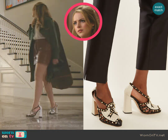 'Tracy' Pumps by Gucci worn by Fallon Carrington (Elizabeth Gillies) on Dynasty