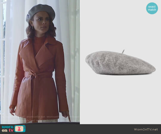 Wool Felt Beret by Gucci worn by Cristal Flores (Nathalie Kelley) on Dynasty