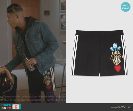 Wool short with embroidery by Gucci worn by Hakeem Lyon (Bryshere Y. Gray) on Empire