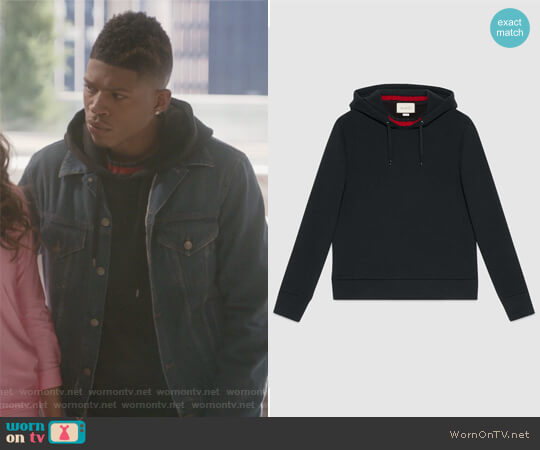 Cotton sweatshirt with Web by Gucci worn by Bryshere Y. Gray on Empire