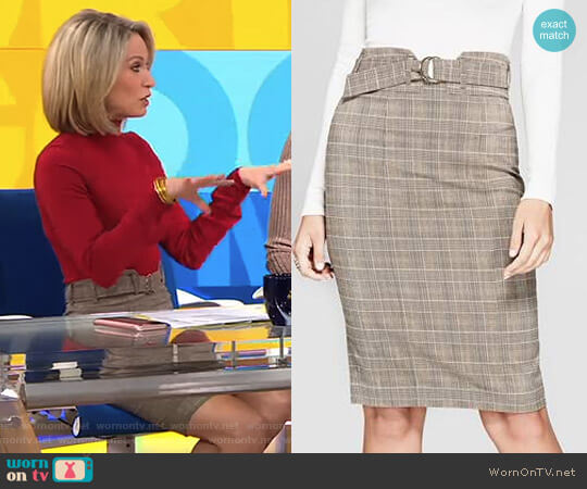 'Aracelli' Skirt by Guess worn by Amy Robach (Amy Robach) on Good Morning America