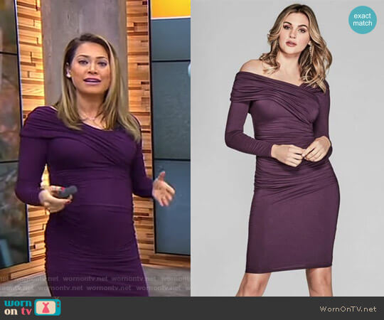 'Derlene' Dress by Guess worn by Ginger Zee  on Good Morning America