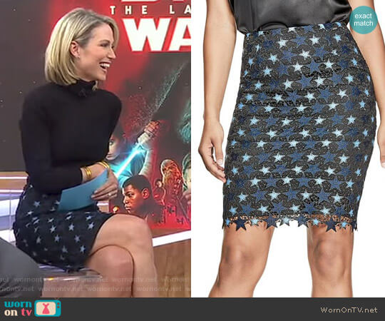 'Lietta' Skirt by Guess worn by Amy Robach on Good Morning America