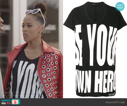 Be Your Own Hero T-shirt by Haider Ackermann worn by Serayah McNeill on Empire
