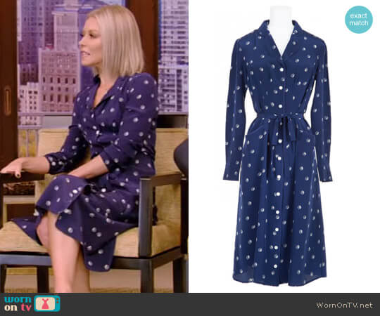 Dice Sarah Dress by Harley Viera Newton worn by Kelly Ripa  on Live with Kelly & Ryan