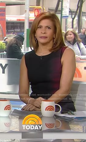 Hoda's black and red ombre sheath dress on Today