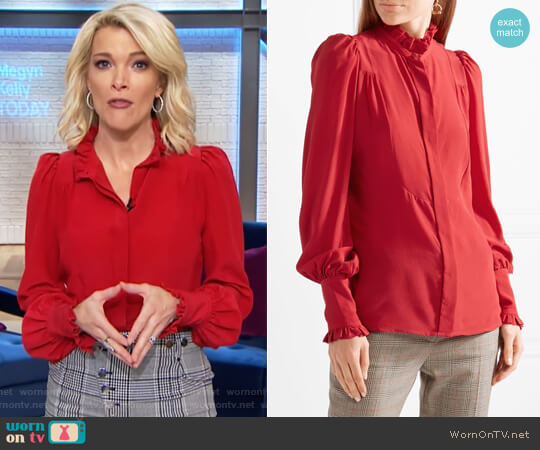 Sloan ruffled silk crepe de chine blouse by Isabel Marant worn by Megyn Kelly on Today