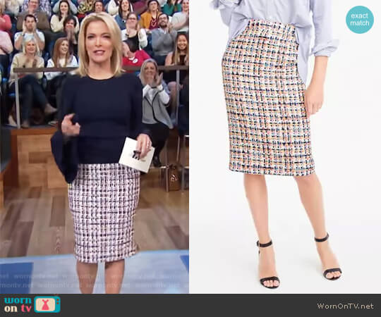 Collection pencil skirt in French tweed by J.Crew worn by Megyn Kelly  on Today