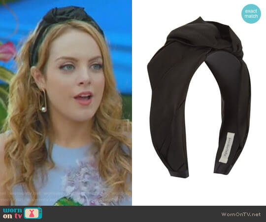 Knot Silk Headband by Jennifer Behr worn by Elizabeth Gillies on Dynasty