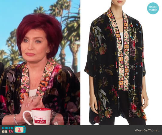 Kehlani Reversible Kimono Jacket by Johnny Was worn by Sharon Osbourne (Sharon Osbourne) on The Talk