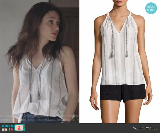 Amalle Striped Top by Soft Joie worn by Fiona Gallagher (Emmy Rossum) on Shameless