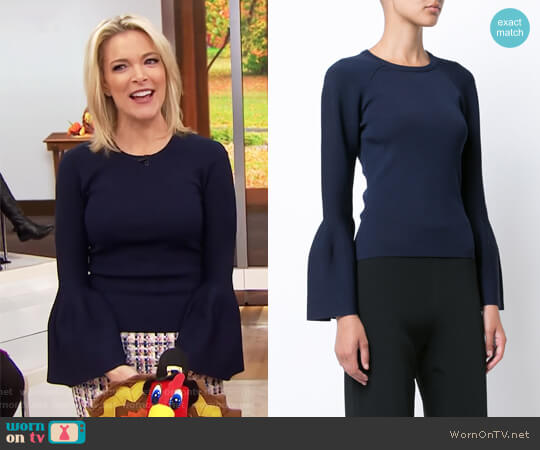 Flared Sleeves Knitted Blouse by Jonathan Simkhai worn by Megyn Kelly  on Today