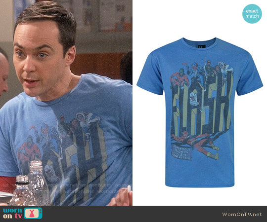 Junk Food Clothing Flash Six Super Villains T-shirt worn by Sheldon Cooper (Jim Parsons) on The Big Bang Theory