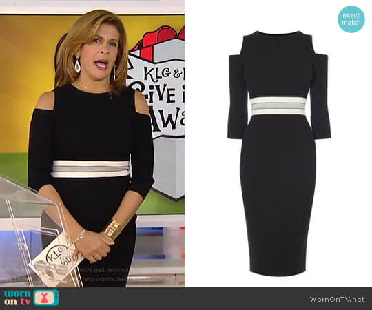 Sporty Cold-Shoulder Dress by Karen Millen worn by Hoda Kotb on Today