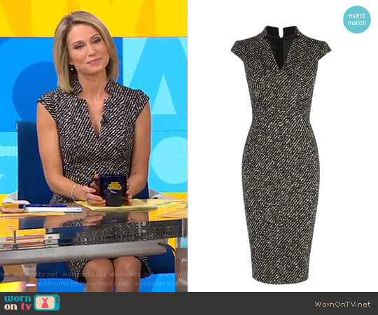Tweed Pencil Dress by Karen Millen worn by Amy Robach  on Good Morning America