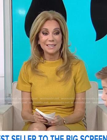 eca80748ddb WornOnTV  Kathie s yellow short sleeve dress on Today