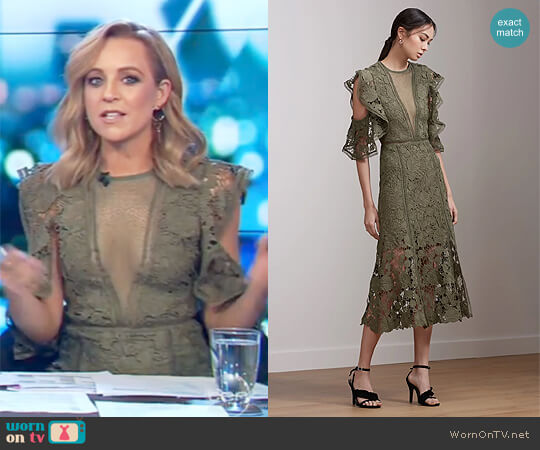 Frameless Midi Dress by Keepsake worn by Carrie Bickmore on The Project