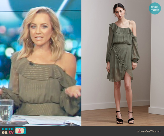 Paper thin Mini Dress by Keepsake worn by Carrie Bickmore on The Project
