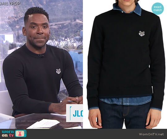 Sweater in Wool by Kenzo worn by Justin Sylvester  on E! News